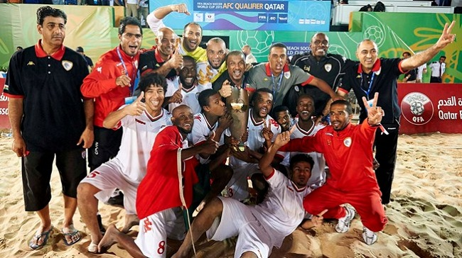 Oman is the best beach football team